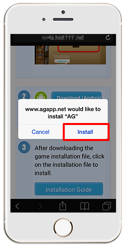 Installing iAG on iPHONE (iOS)-step 7