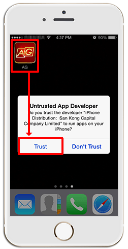 Installing iAG on iPHONE (iOS)-step 9