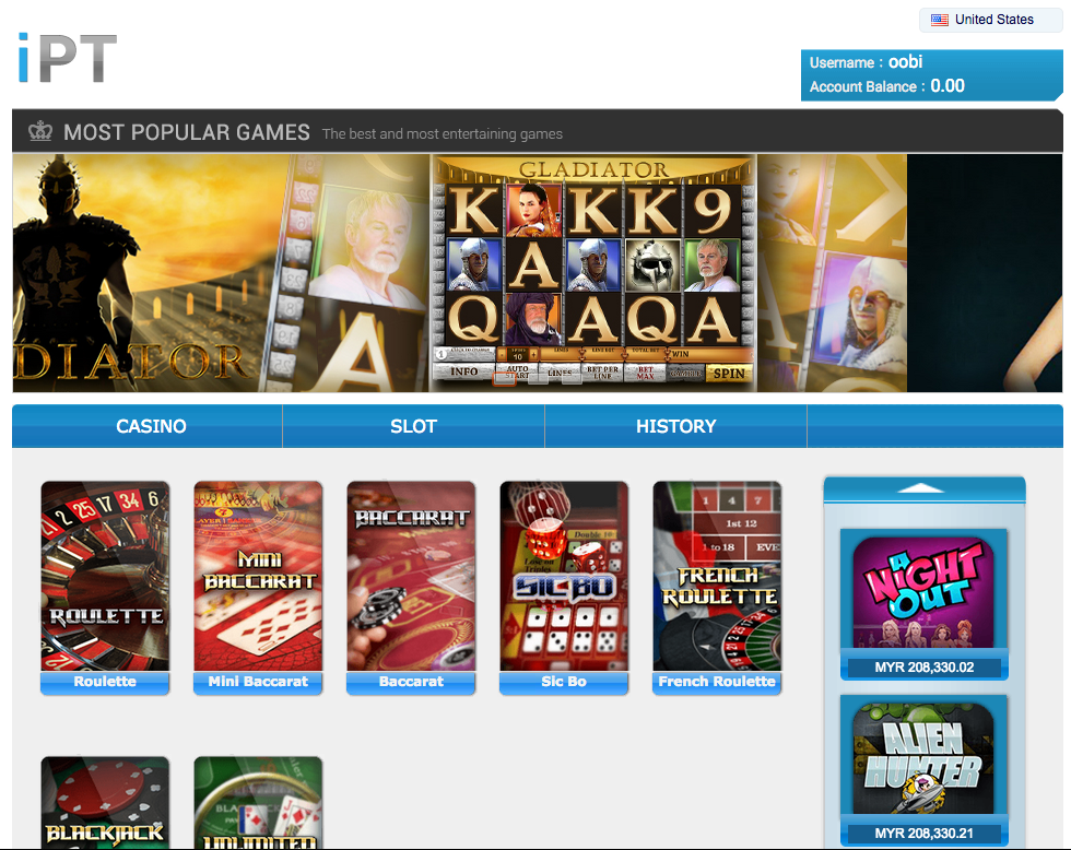 iBET iPT Casino Game