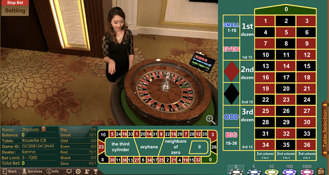 Roulette Game table of iBET AGIN