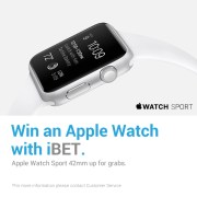 Win an Apple Watch with iBET Online Casino Malaysia