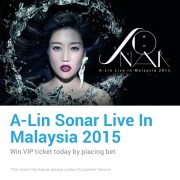 iBET Casino A-Lin Sonar Live In Malaysia 2015 WIN VIP ticket
