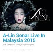 iBET Casino A-Lin Sonar Live In Malaysia 2015 WIN VIP ticket