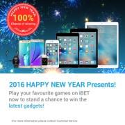 iBET Casino Promotion : Amazing Big 2016 New Year Gifts & Cash Reward!