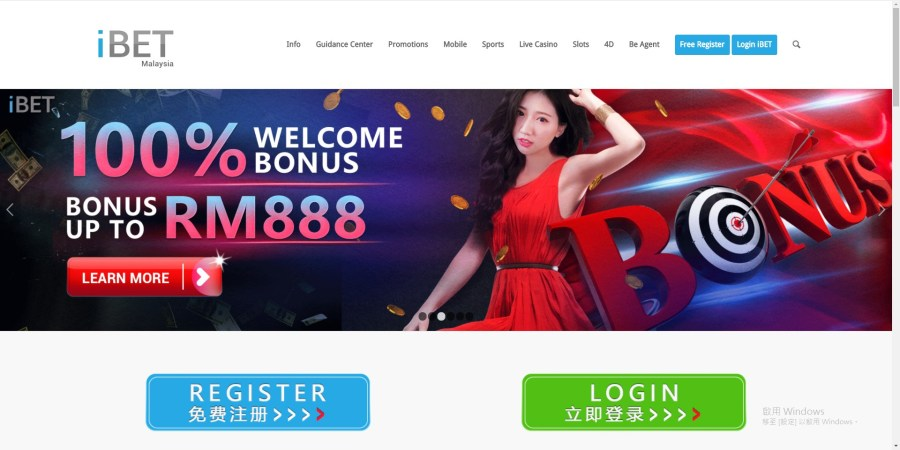 iBET Online Casino-web page
