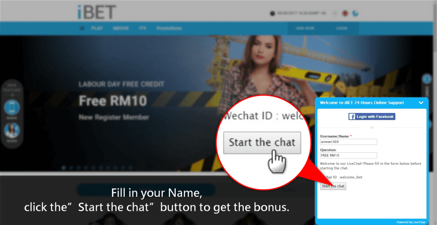 iBET Teach You How To Get Labour Day Free RM10
