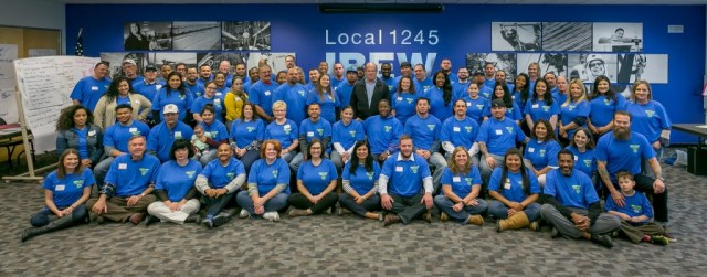 IBEW Organizing Stewards meeting at the union hall in Vacaville, Calif. on January 22nd 2015.