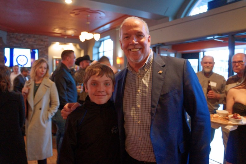 Bradley Schmidt with John Horgan
