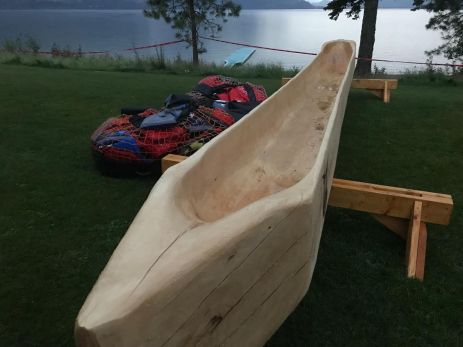 Trying to learn to carve canoes