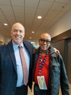 John Horgan with Chris Sherman