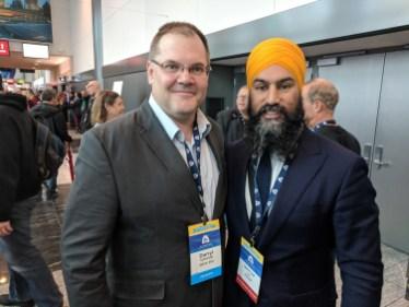 Darryl with Jagmeet Singh