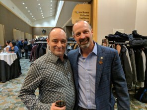 Lorne Fisher with Laird Cronk, the new President of the BC Federation of Labour