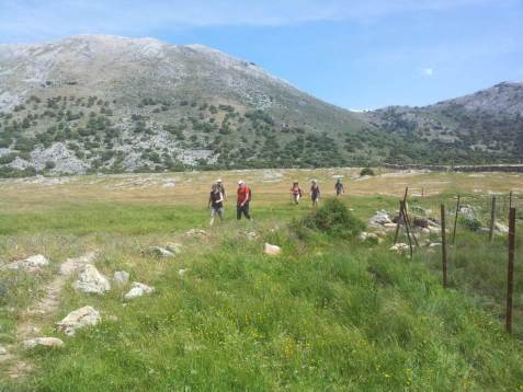Group Walking In Grazalema