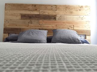 Cabecero de madera de palet