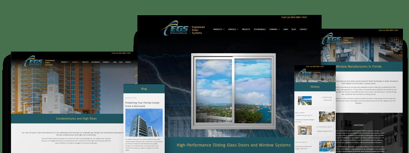 EGS International - web design services - responsive site