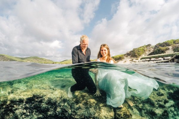 Unconventional Ibiza Wedding, Lorenzo Melissari, Ibiza wedding photographer, under water wedding ibiza