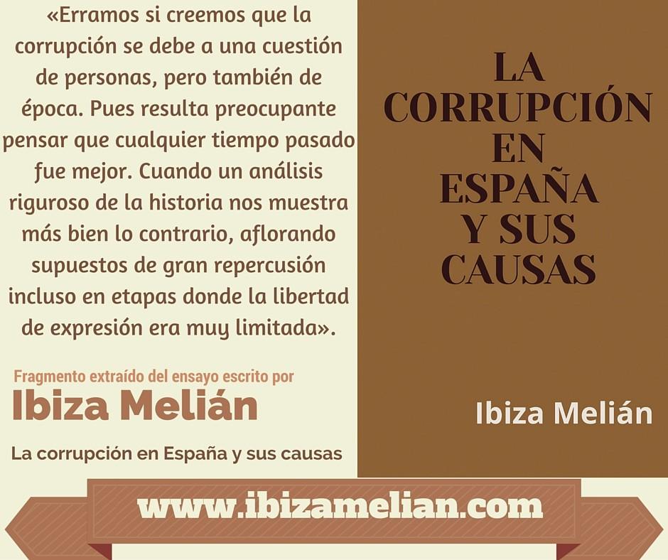 Frase sobre el origen de la corrupción en España
