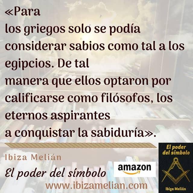 Frase sobre los filósofos, de la escritora Ibiza Melián