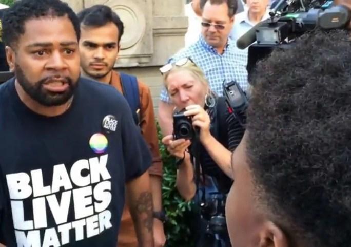 trump supporter vs black lives matter