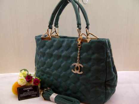 Chanel 704018 33x24x13 bahan kulit green 200(1)