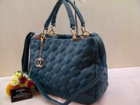 Chanel 704038 33x24x13 bahan kulit blue 200
