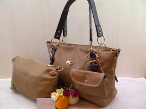Chloe 698 33x25x14 bahan kulit apricot 200
