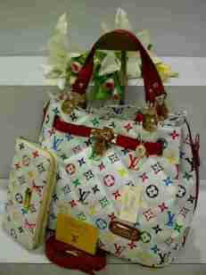 ED0 Lv KD Set 8802-1 Multy White Semi Super 32x18x25 (Dalaman Kanvas Merah)