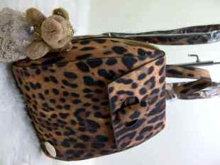   CHLOE 7080 Ransel leopard 26x16x28 Free Bear cute @200