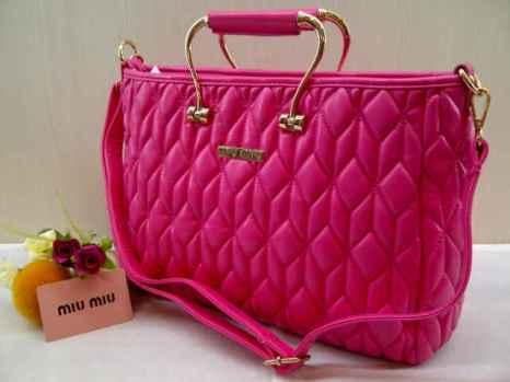 Miu-miu 8093 33x23x12 bahan kulit pink 200