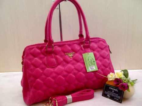 Prada 704010 38x22x14 bahan kulit pink 200