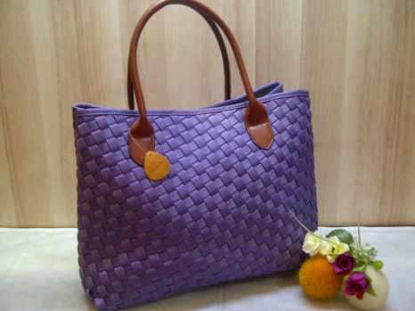 Sale maribel semi ori bahan polyester gagan kulit asli 35x28x19 purple 300