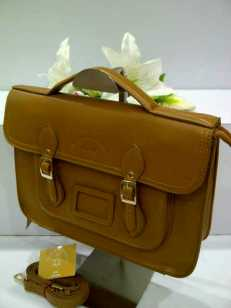 WX0 Cambridge Satchel 1211 Khaki SemSup 30x9x22