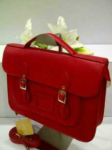 WX0 Cambridge Satchel 1211 Red SemSup 30x9x22