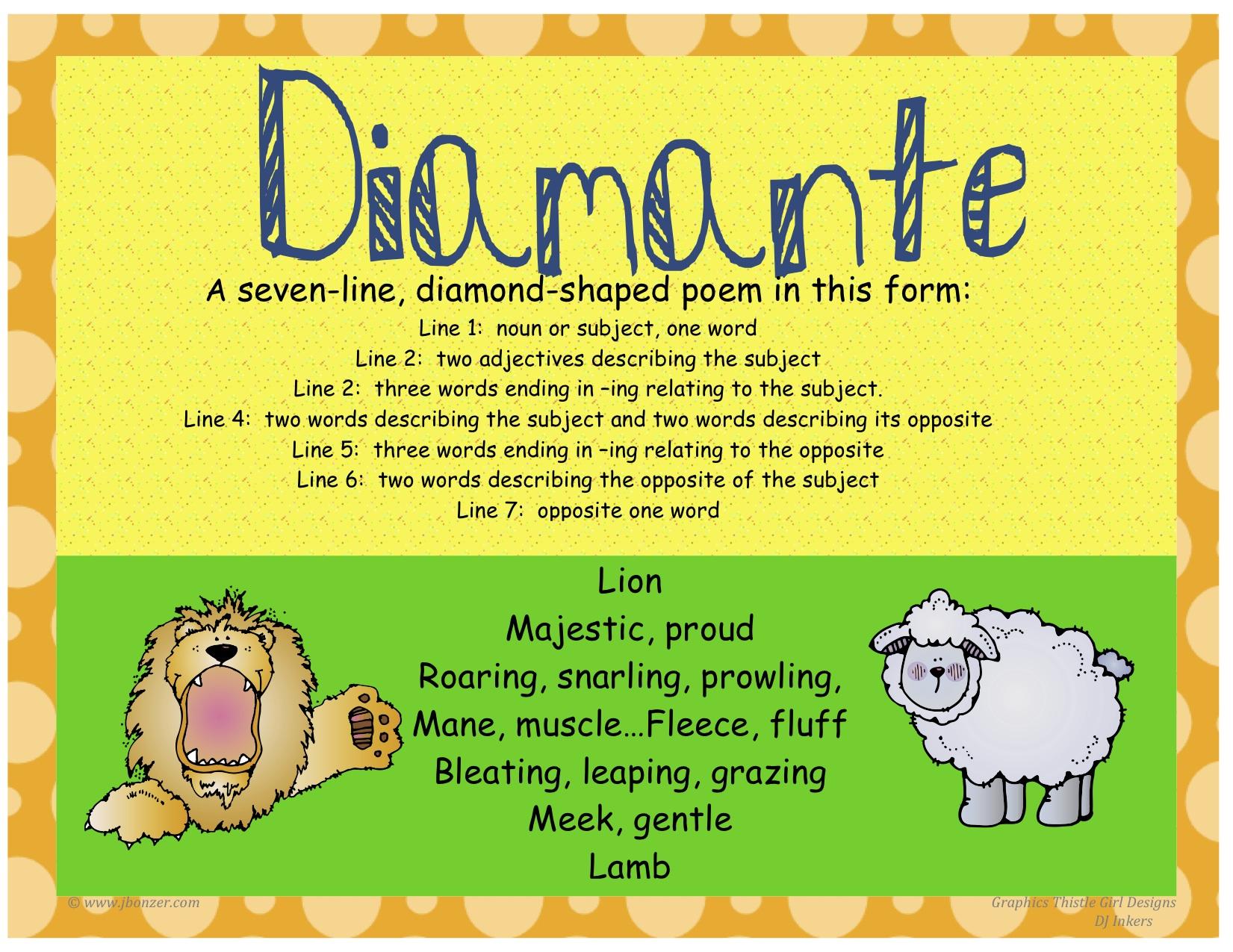 Image result for diamante poem