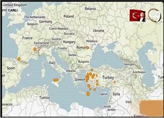 İşte 15 Temmuz darbe gecesi Türkiye'nin deprem haritası!