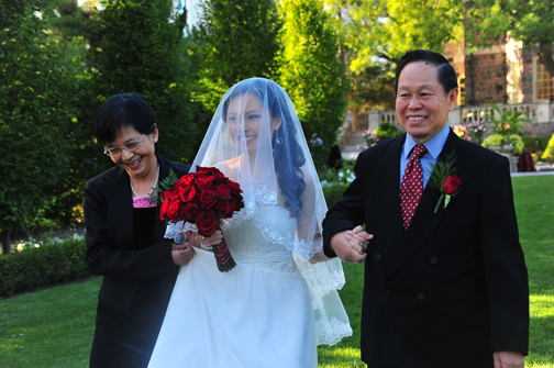 Mommy, daddy and the bride