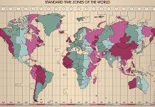 mapa de los husos horarios