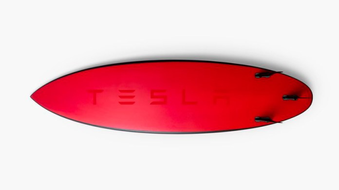 Tesla Surf Board