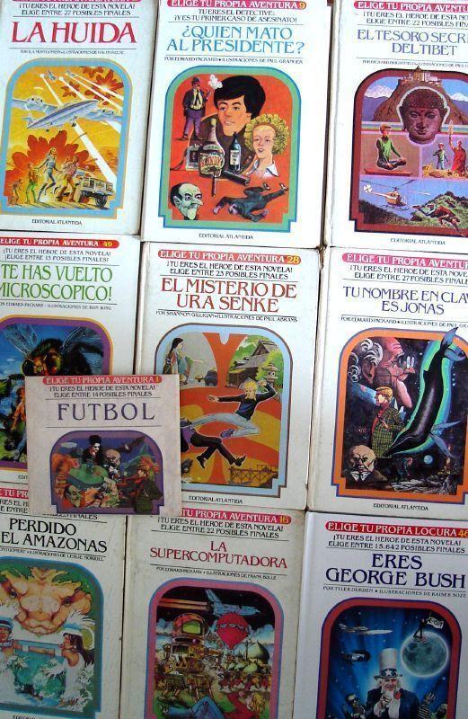 "Portadas ""Elige tu propia aventura"""