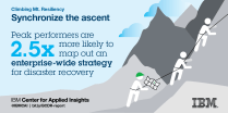 Leading disaster recovery teams are more likely to create an integrated strategy