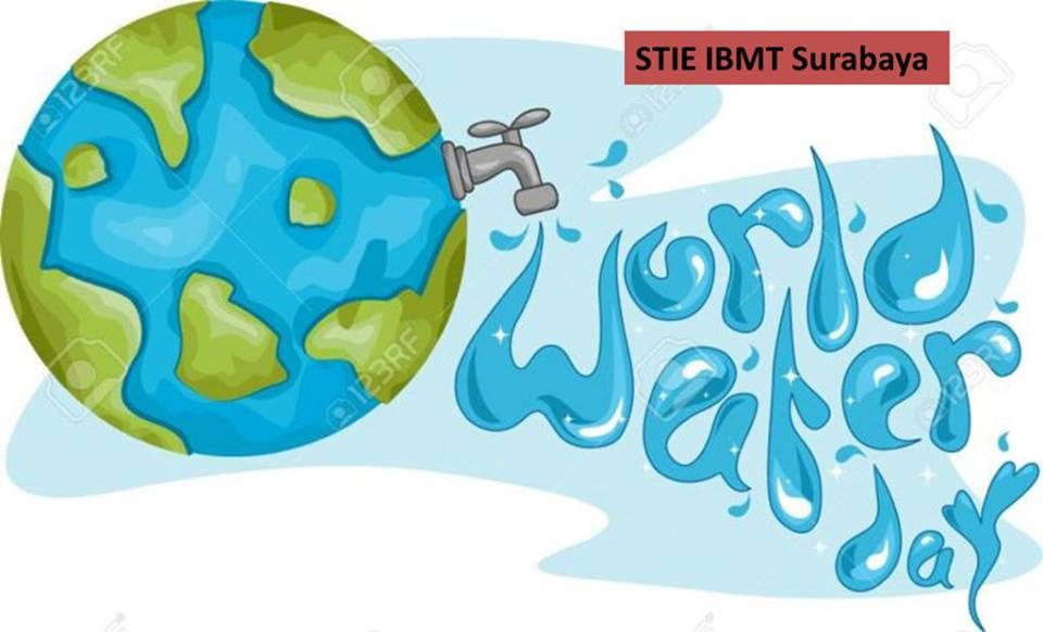 stie-ibmt-surabaya-world water day