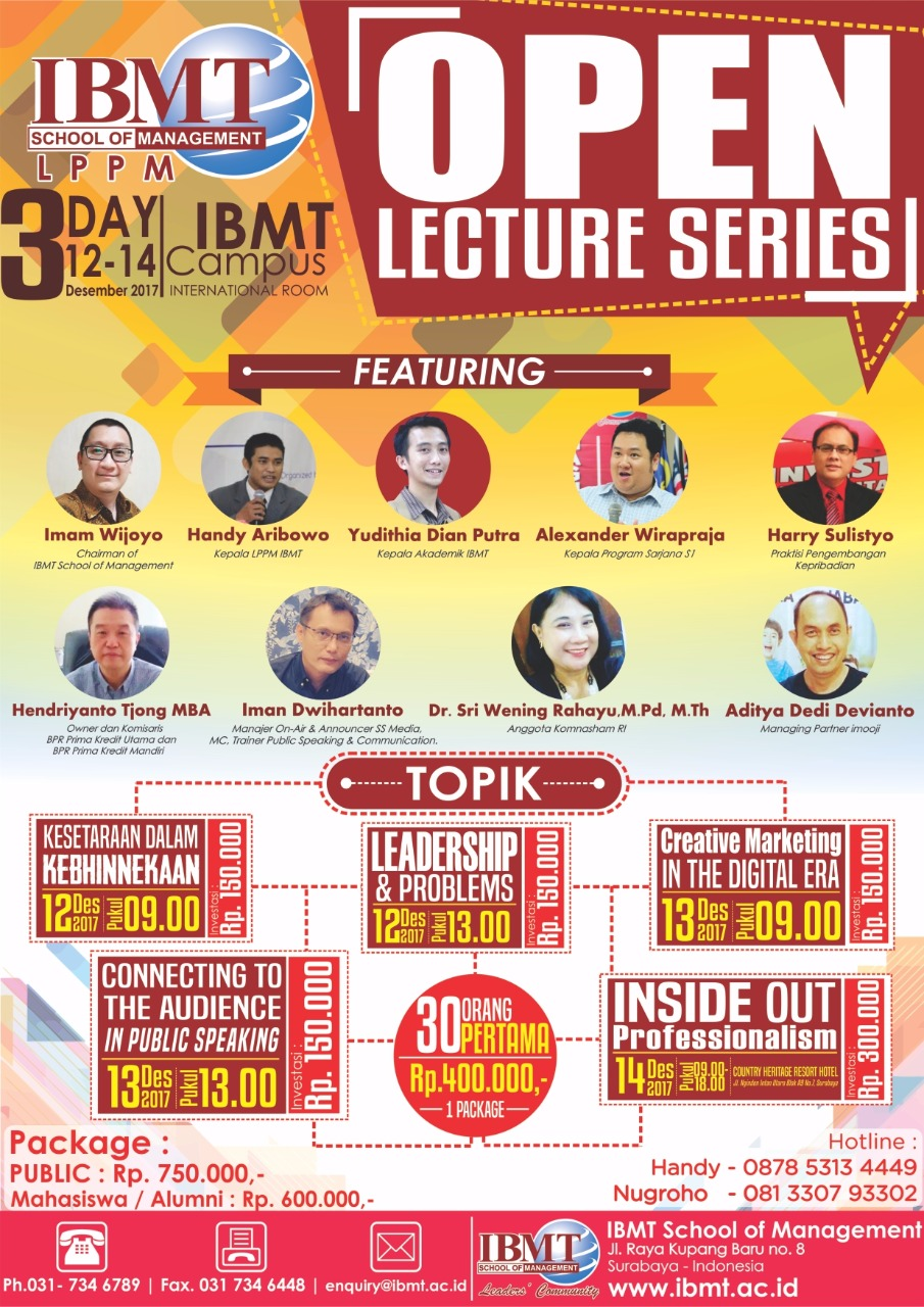 Stie-Ibmt-OpenLectureSeries