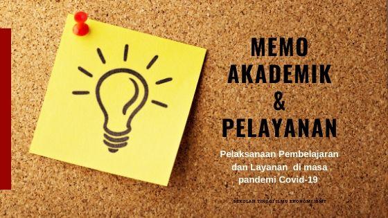 banner memo akademik dan pelayanan mahasiswa stie ibmt