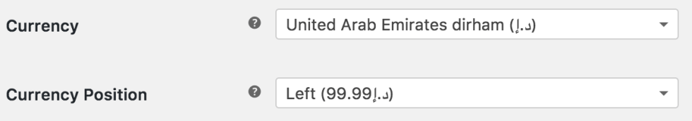Woocommerce Change Currency Signsymbol Of Uae Dirham Ibrahim