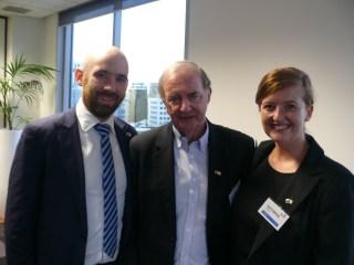 David Eccles, Rodney Walshe and Kathryn O'Shea.