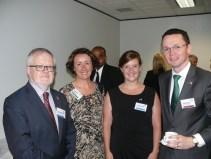 Breandán Ó Caollaí, Irish Ambassador to New Zealand and Australia; Honorary Consul General of Ireland Niamh McMahon; Kathryn O'Shea, IDA Ireland, and Minister Patrick O'Donovan, TD;