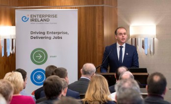 Enterprise Ireland Trade Mission to Scotland , Sheraton Hotel, Edinburgh - picture shows Joe McHugh TD, Minister of State for the Diaspora and International Development - picture by Donald MacLeod - 08.11.16 - 07702 319 738 - clanmacleod@btinternet.com - www.donald-macleod.com