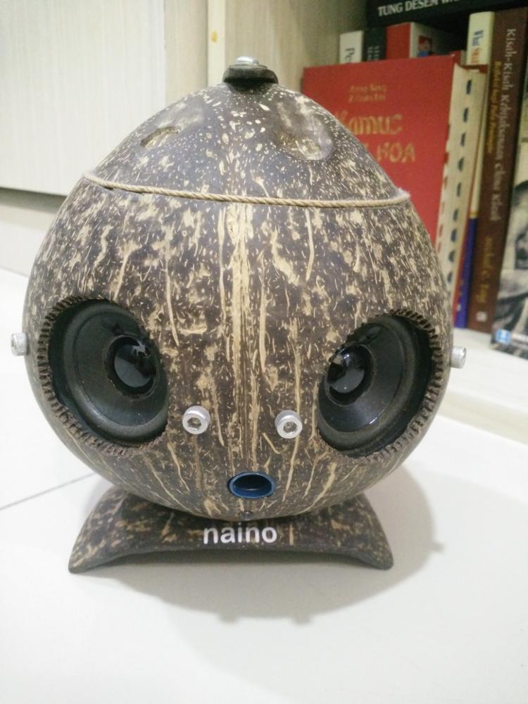 speaker dari batok kelapa