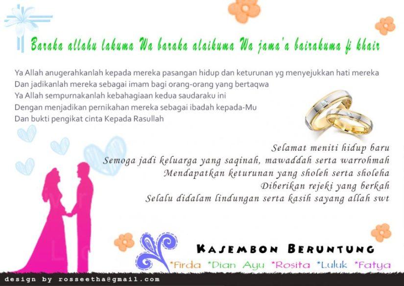 Ucapan Pernikahan Sahabat Islami Unik Lucu Kartu Ucapan