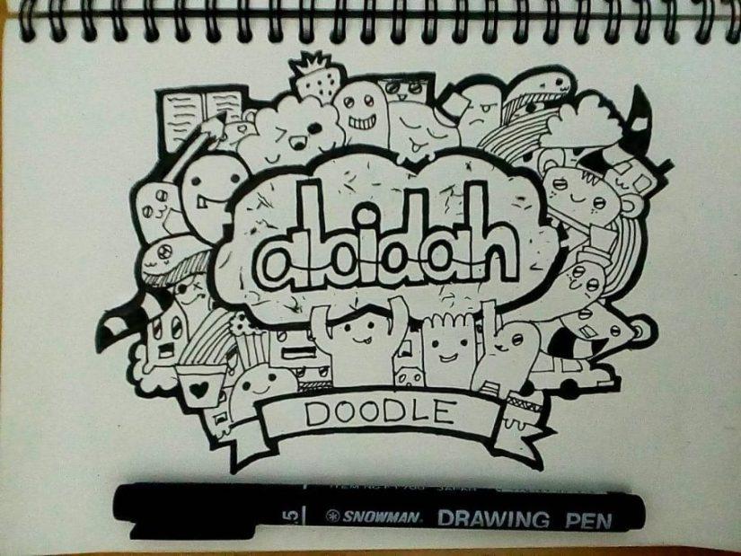 Kumpulan Doodle nama terbaik